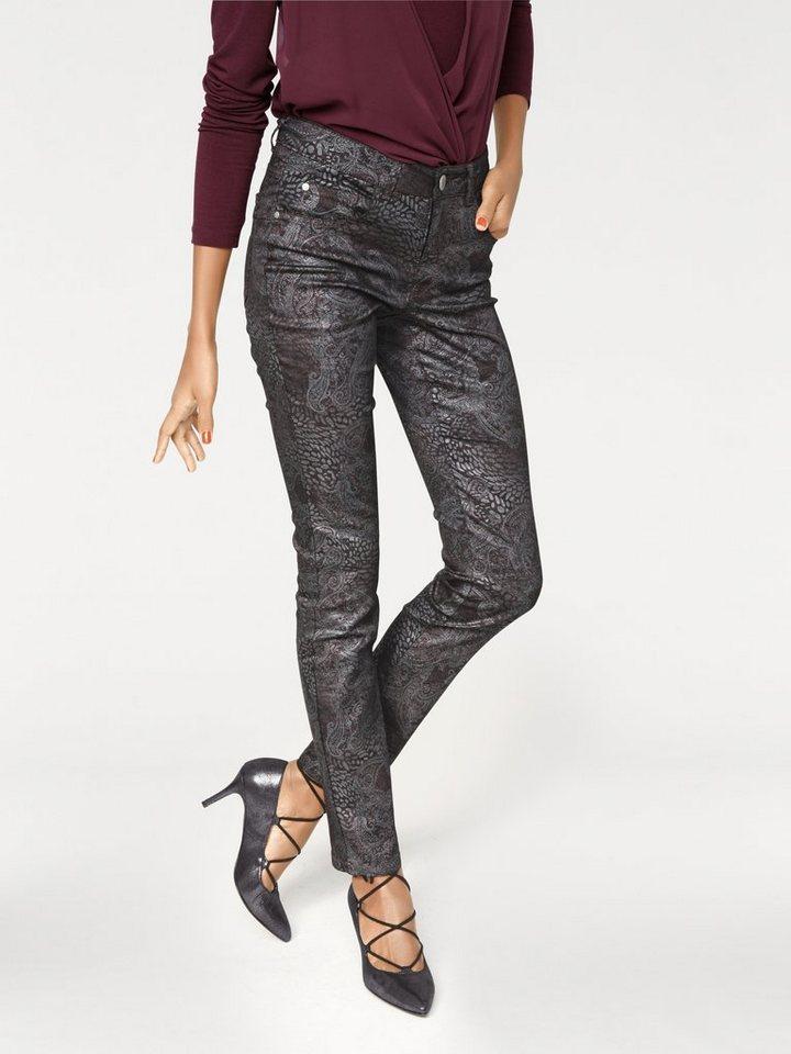ASHLEY BROOKE by Heine Bodyform-Push-up-Jeans in bordeaux