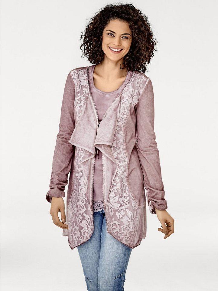 Shirtjacke in rosenholz