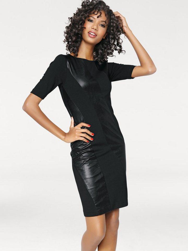 Bodyform-Patchkleid in schwarz