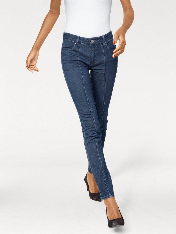 Bodyform-Push-up Jeans in blue denim