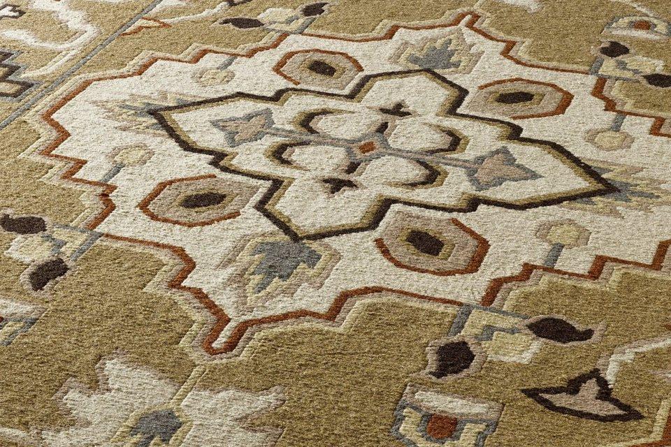Handwebteppich in braun