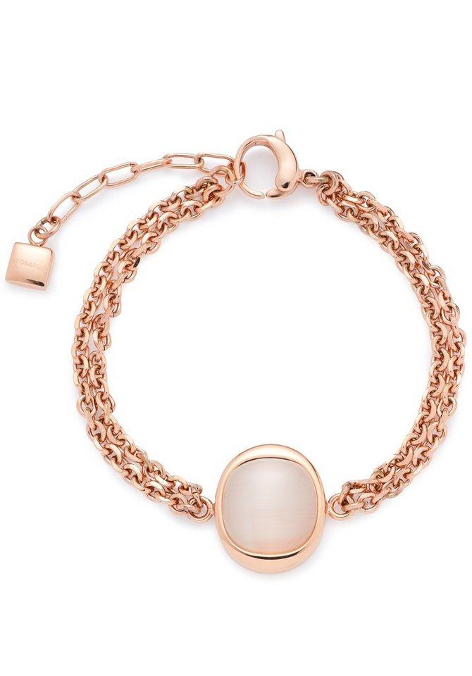 Jewels by Leonardo Armband mit Glasstein, »contrasto, 015667« in roségoldfarben