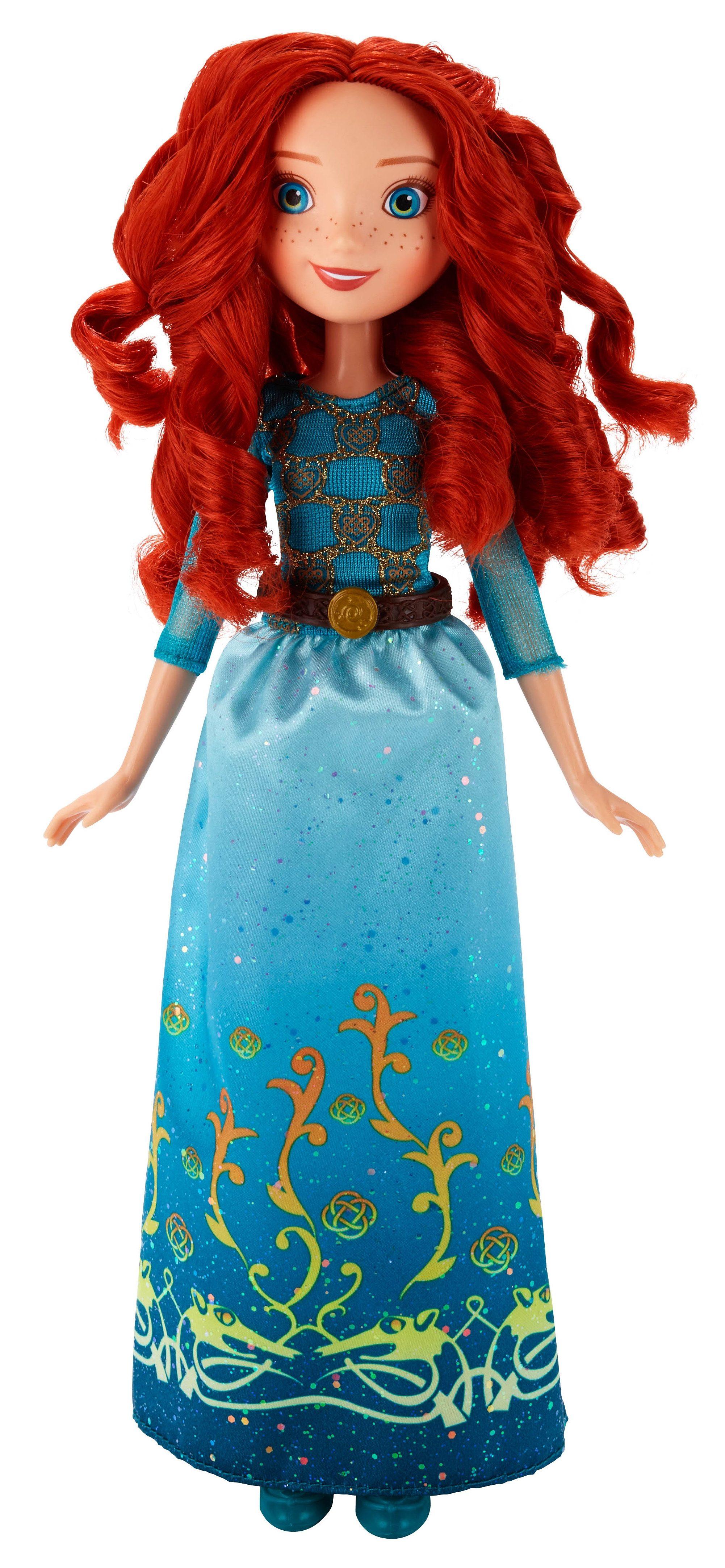 Hasbro Puppe 27 cm, »Disney Princess - Schimmerglanz Merida«