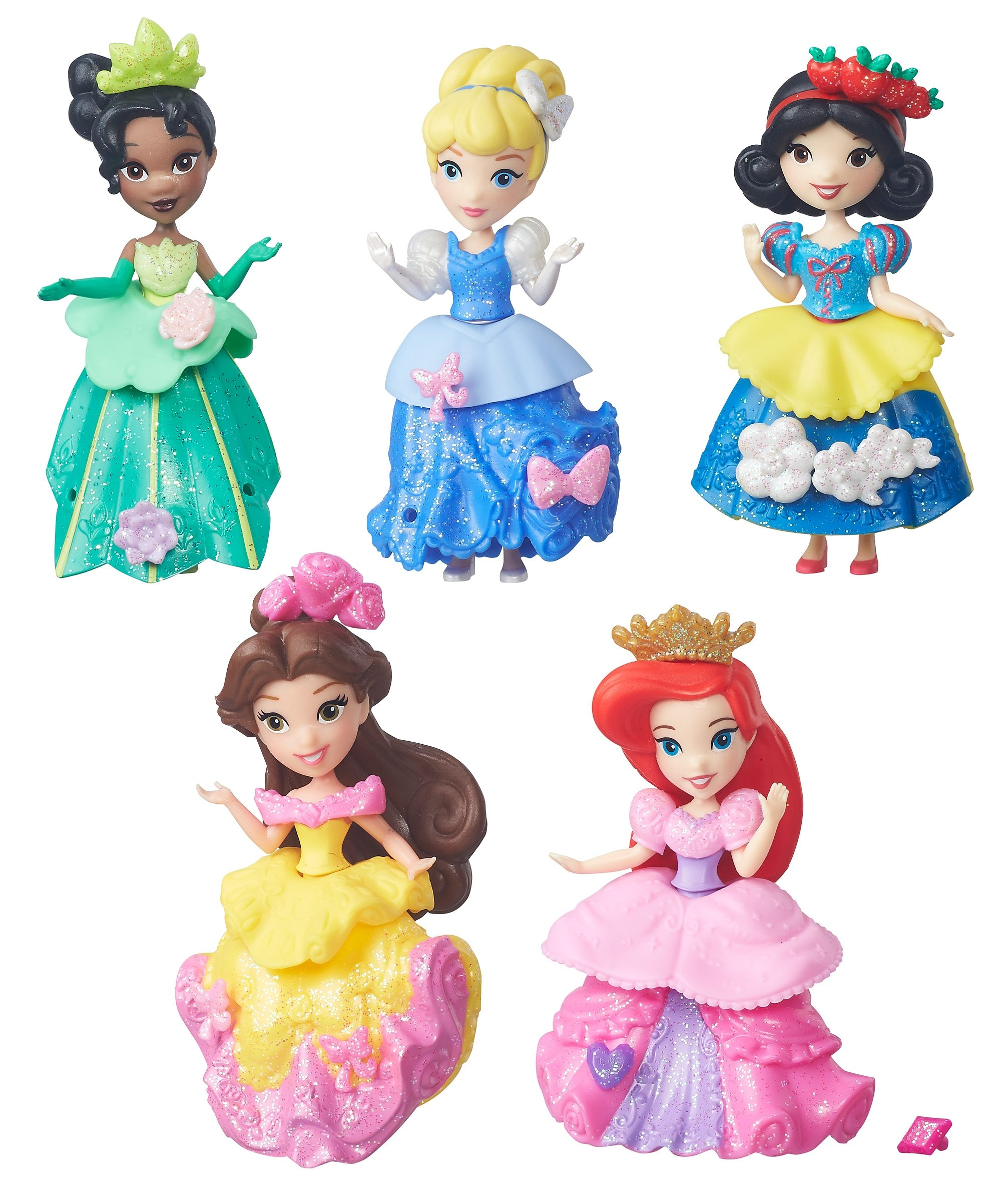 Hasbro Spielfiguren Set, »Disney Princess Little Kingdom Glitzer-Prinzessinnen« (5tlg.)