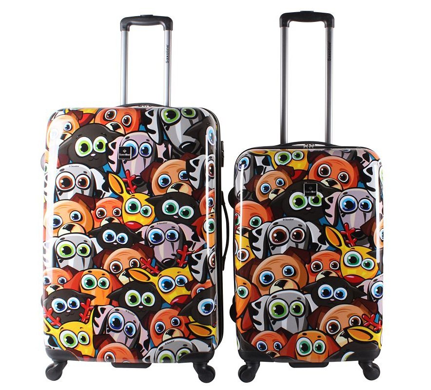 Saxoline Trolley-Set mit 4 Rollen, »Funny Animals« (2tlg.) in bunt