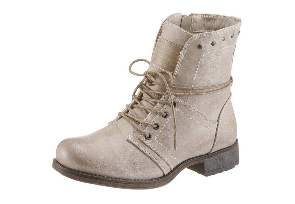 Mustang Shoes Schnürboots in taupe