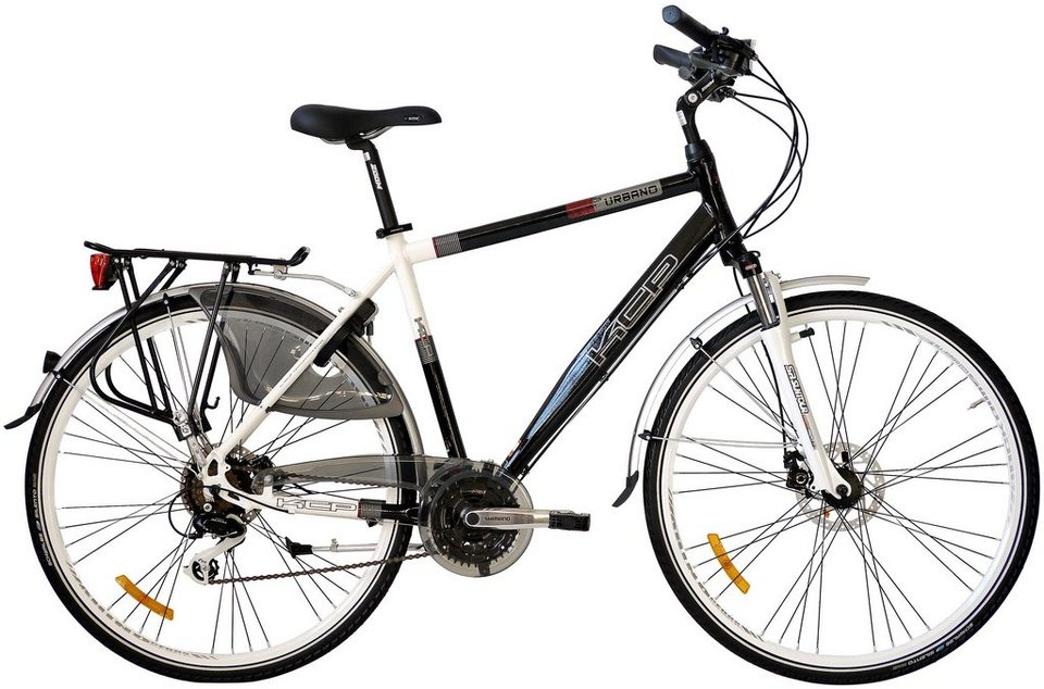 Citybike (Herren) »Urbano Gent, 28 Zoll«, SHIMANO Alivio 24 Gang, SHIMANO Scheibenbremsen in schwarz