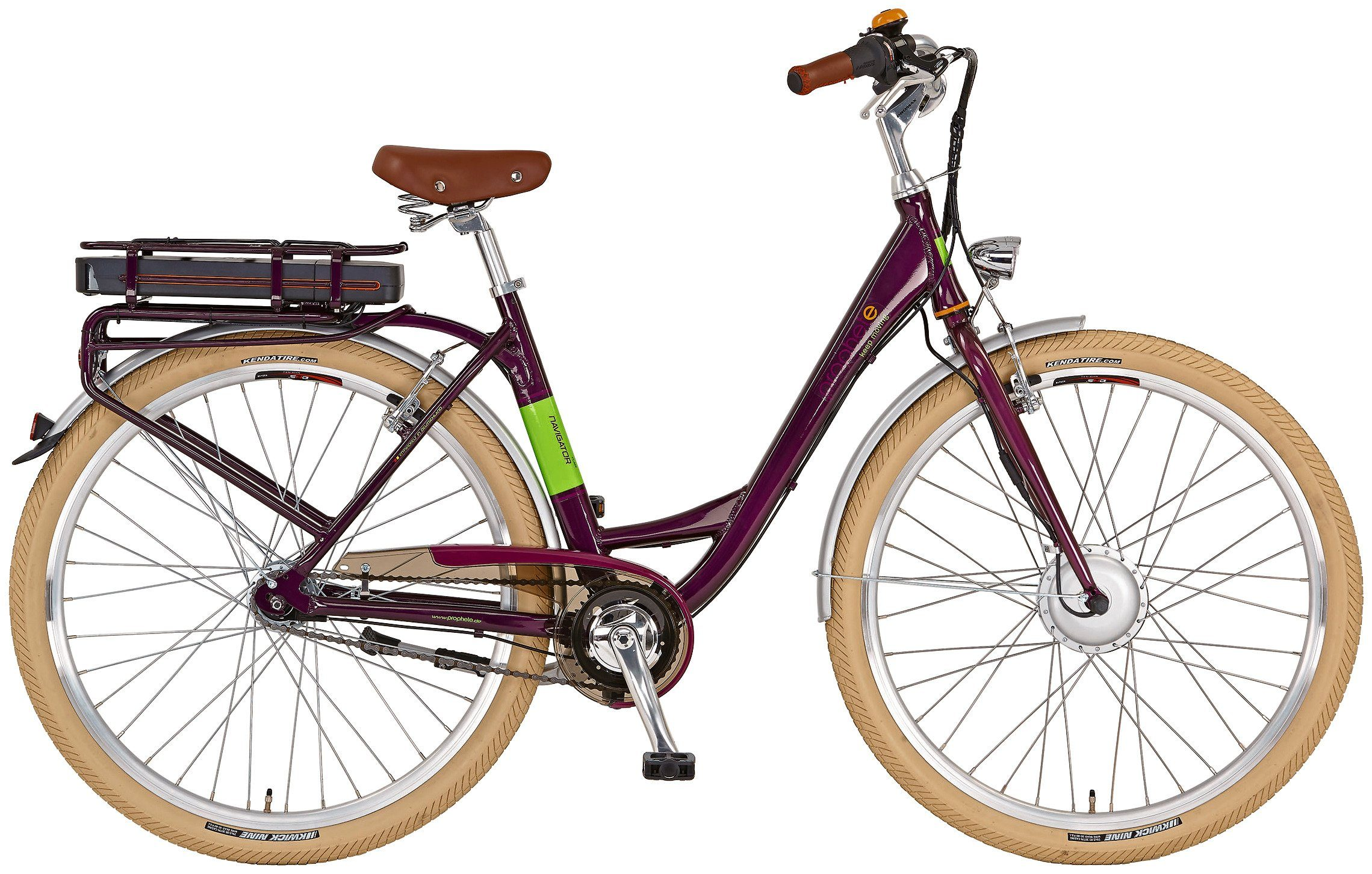 Prophete E-Bike City Damen »Navigator Flair«, 28 Zoll, 7 Gang, Frontmotor, 374 Wh
