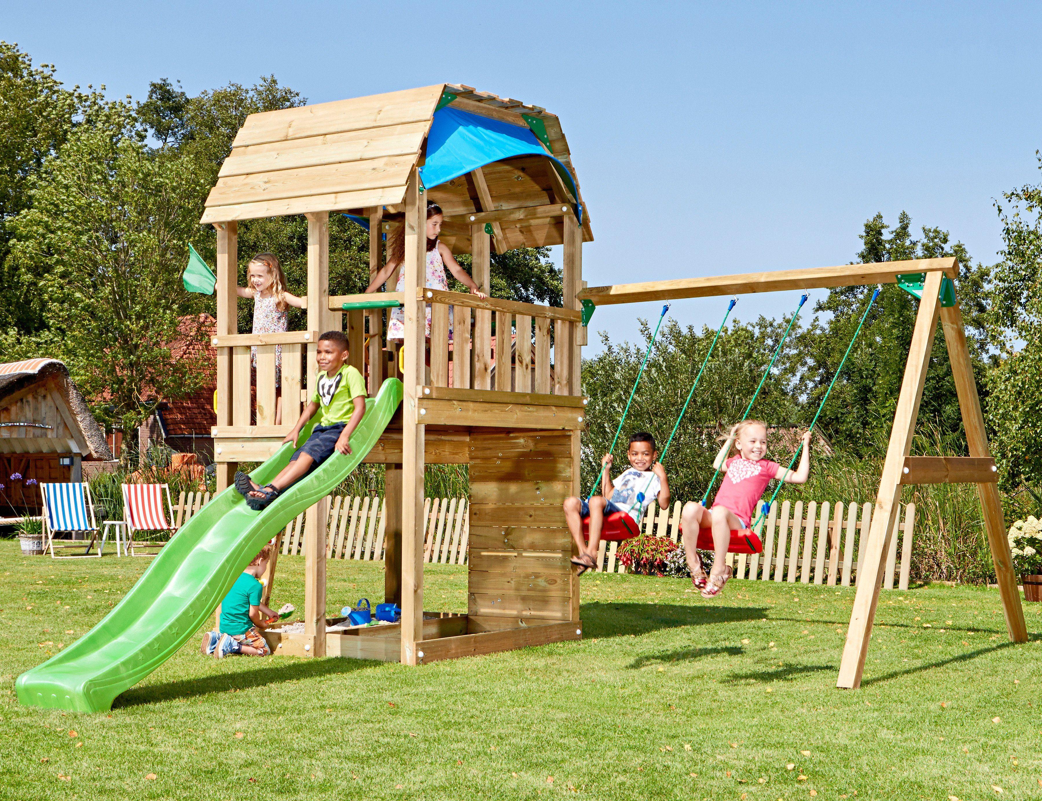 Jungle Gym Set: Spielturm »Jungle Barn«, Gesamtmaße (B/T/H): 450/490/320 cm