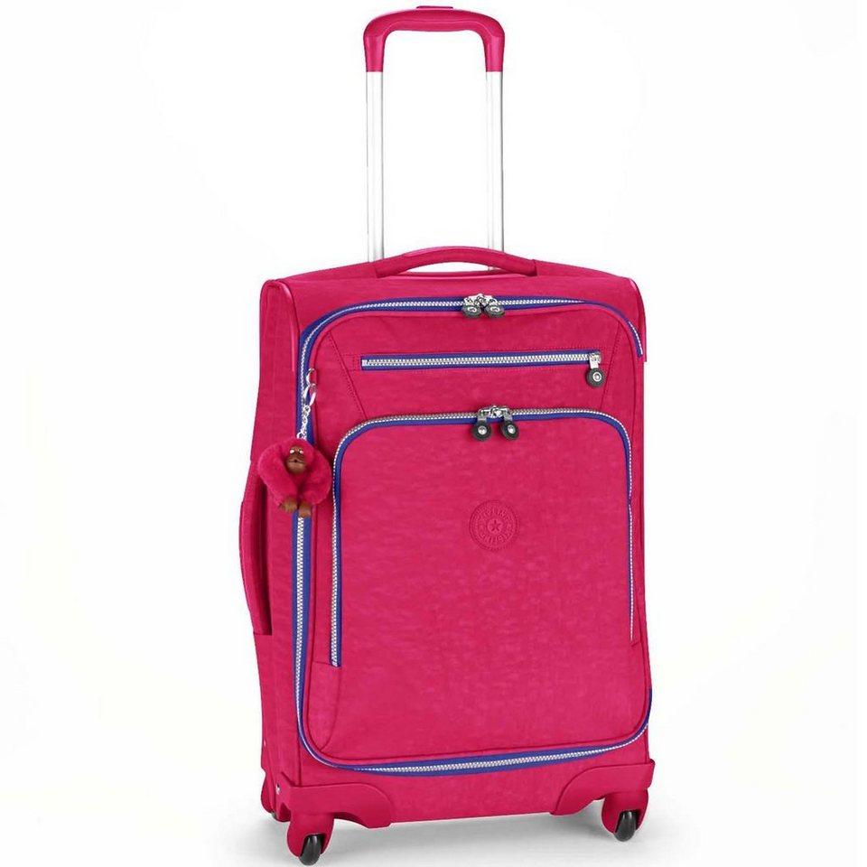 Kipling Basic Travel 4-Rollen Trolley 15 Youri Spin 55 cm in flamb pink ink