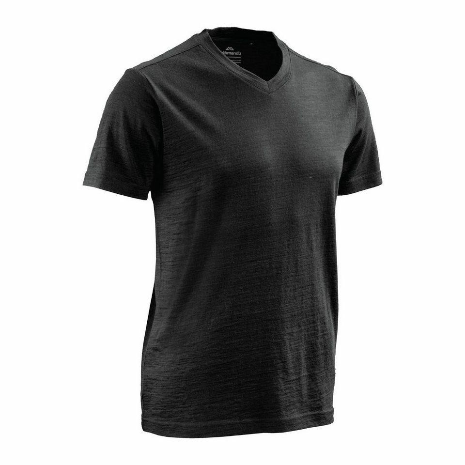 Kathmandu T-Shirt aus Merinowolle »Sarn« in Schwarz