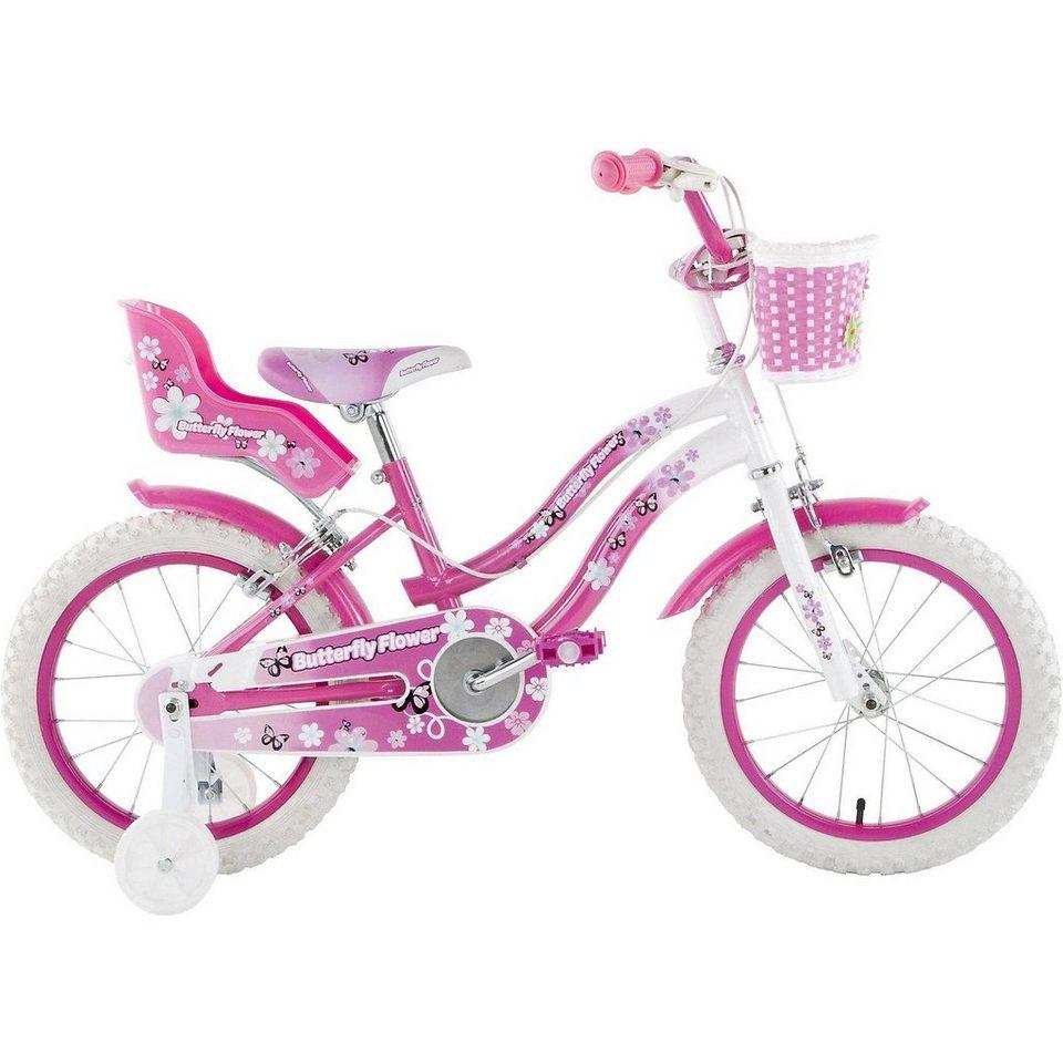 Schiano Kids Kinderfahrrad Butterfly, 14 Zoll in rosa