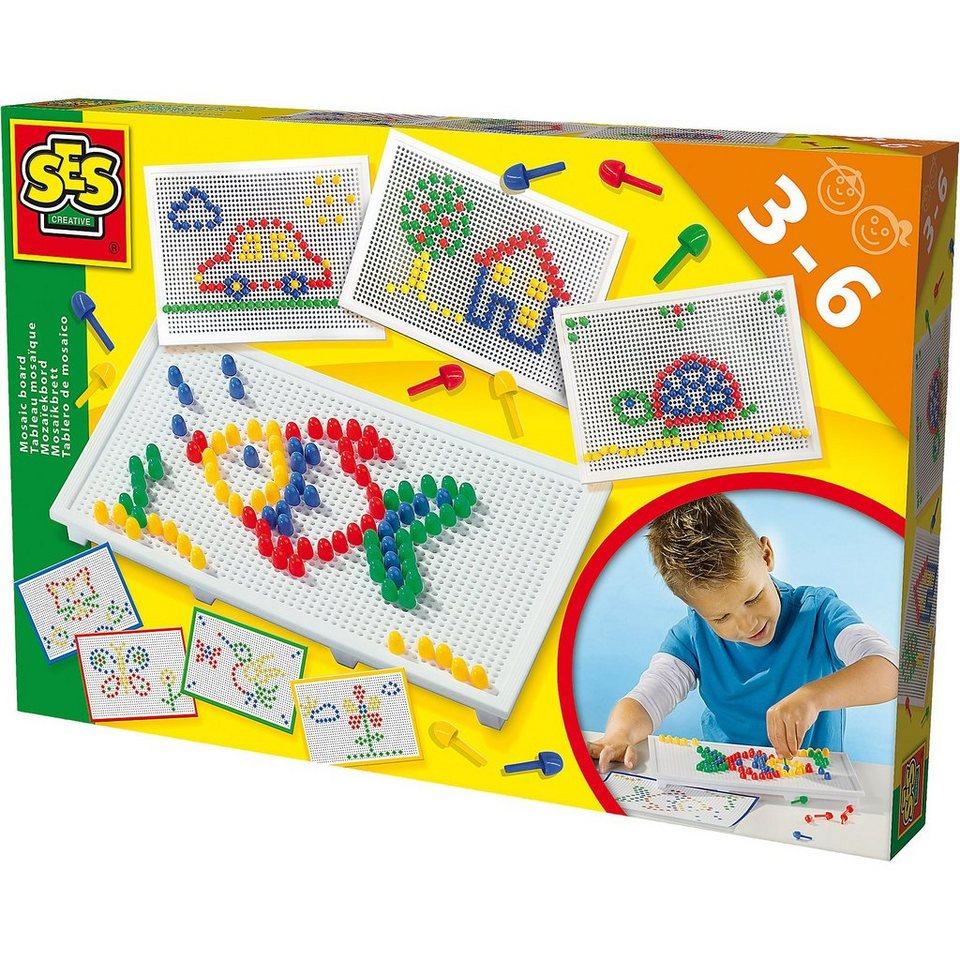 SES Creative 14848 Lernset Ich lerne Mosaike Steckspiel