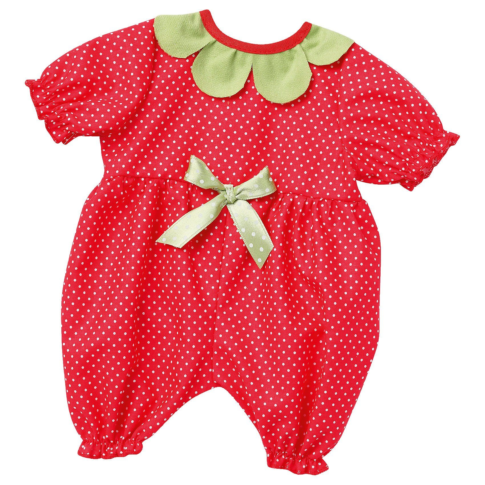 Emil Schwenk Puppenkleidung Baby-Anzug Erdbeere, Gr. 43