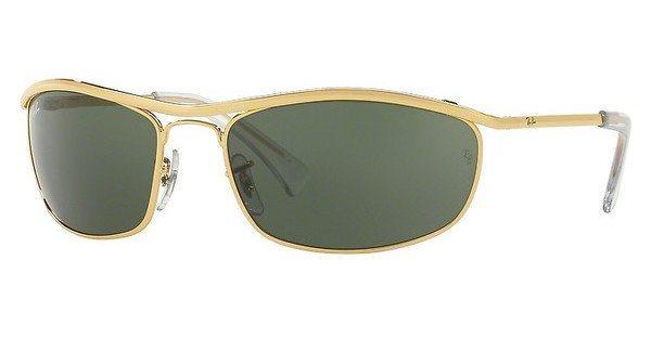 RAY-BAN Herren Sonnenbrille »OLYMPIAN RB3119« in 001 - gold/grün