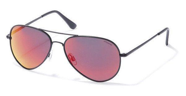 Polaroid Sonnenbrille » P4139« in KIH/L6 - schwarz/rot