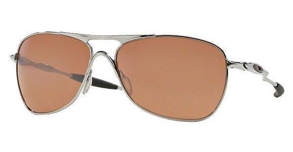 Oakley Herren Sonnenbrille »CROSSHAIR OO4060« in 406002 - grau/rot