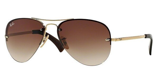 RAY-BAN Sonnenbrille » RB3449« in 001/13 - gold/braun