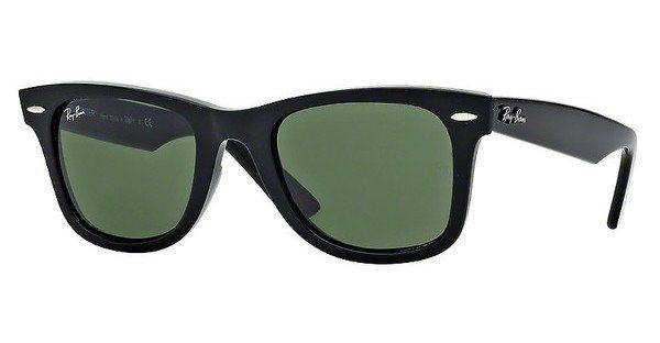 RAY-BAN Sonnenbrille »WAYFARER RB2140« in 901 - schwarz/grün