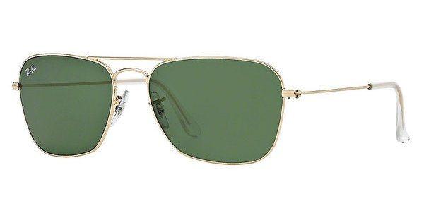 RAY-BAN Herren Sonnenbrille »CARAVAN RB3136« in 001 - gold/grün