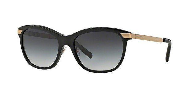 Burberry Damen Sonnenbrille » BE4169Q« in 30018G - schwarz/grau