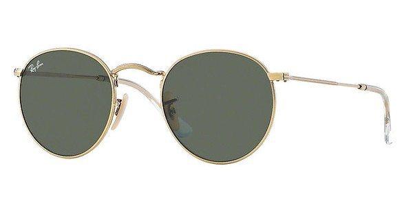 RAY-BAN Sonnenbrille »ROUND METAL RB3447« in 001 - gold/grün