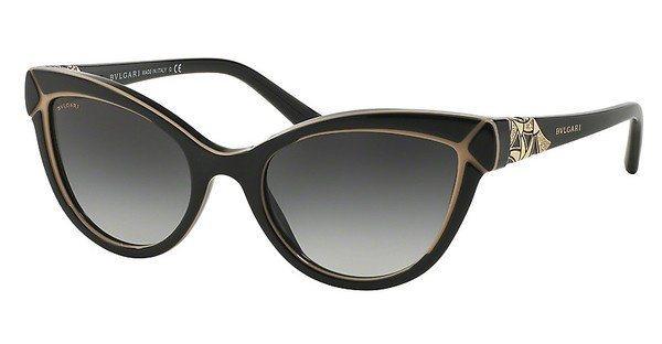 Bvlgari Damen Sonnenbrille » BV8156B« in 53528G - schwarz/grau