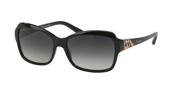 Bvlgari Damen Sonnenbrille » BV8153B« in 501/8G - schwarz/grau
