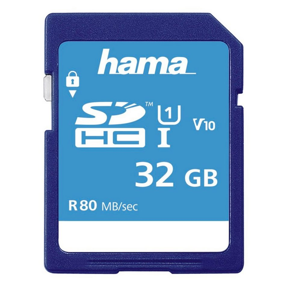 Hama SDHC 32GB Class 10 UHS-I 80MB/S in Blau