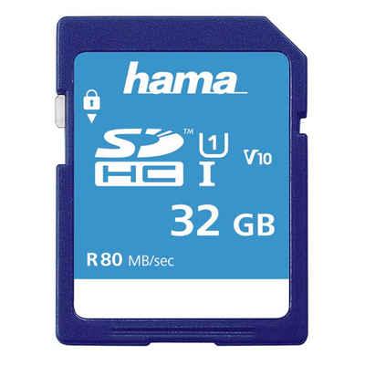 Hama SDXC Speicherkarte 32 GB, Class 10 UHS-I 80MB/S »SD Memory Card«