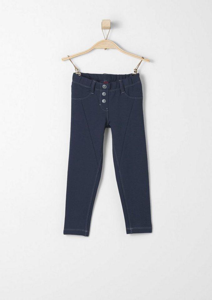 s.Oliver RED LABEL Junior Jogging Pants mit Zierknöpfen für Mädchen in dark blue