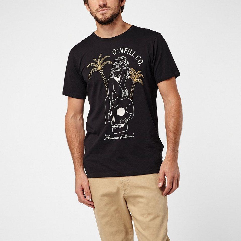 O'Neill T-Shirt kurzärmlig »Pleasure Island« in Schwarz