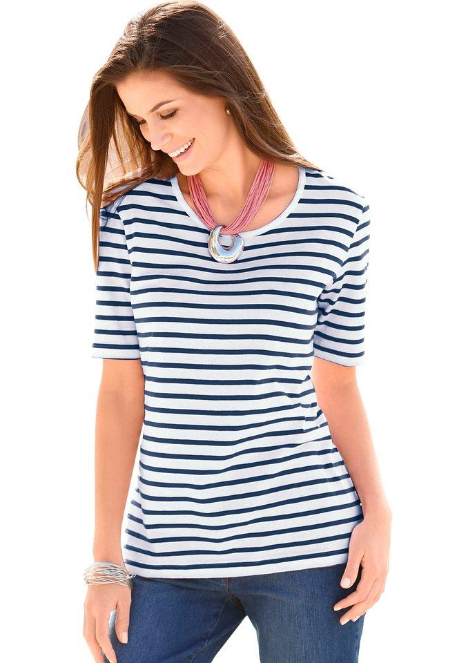 Collection L. Shirt in marine-gestreift