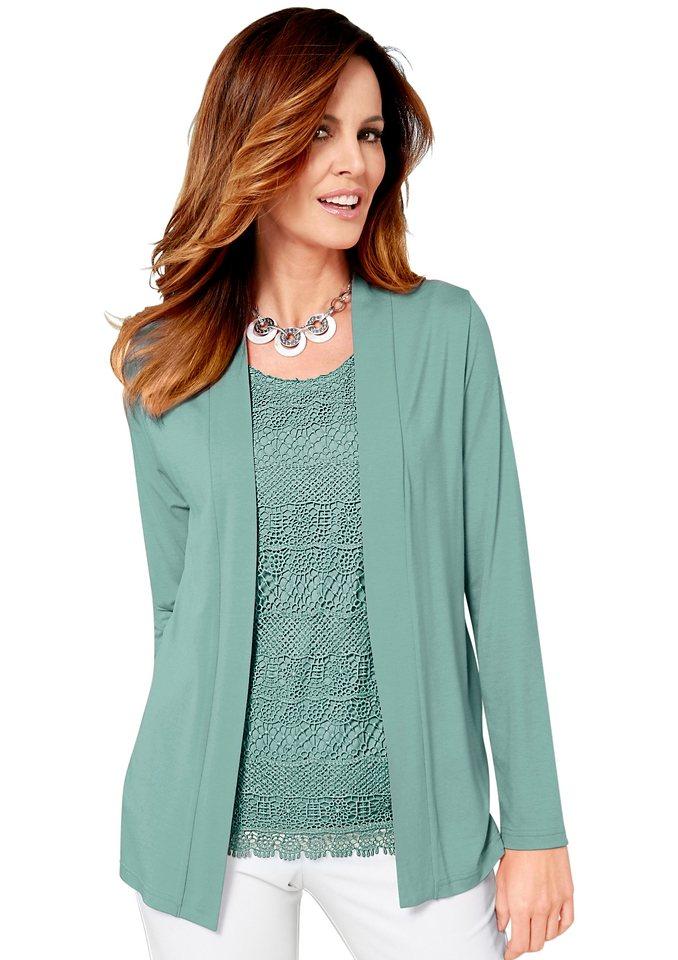 Lady Shirtjacke mit Schalkragen in grün