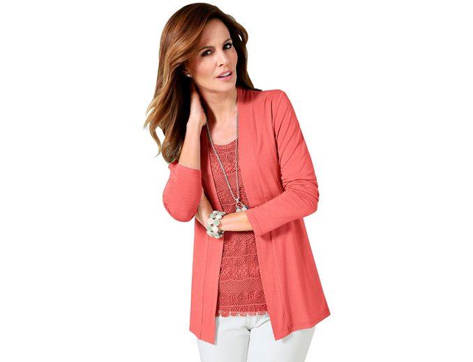 Lady Shirtjacke mit Schalkragen Verkaufsangebote Billig Verkauf Mit Kreditkarte qUFsIm