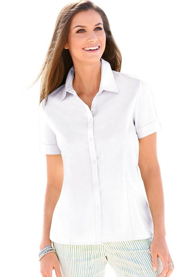 Damen Collection L. Schlichte Bluse mit Hemdkragen weiß | 08901158111001