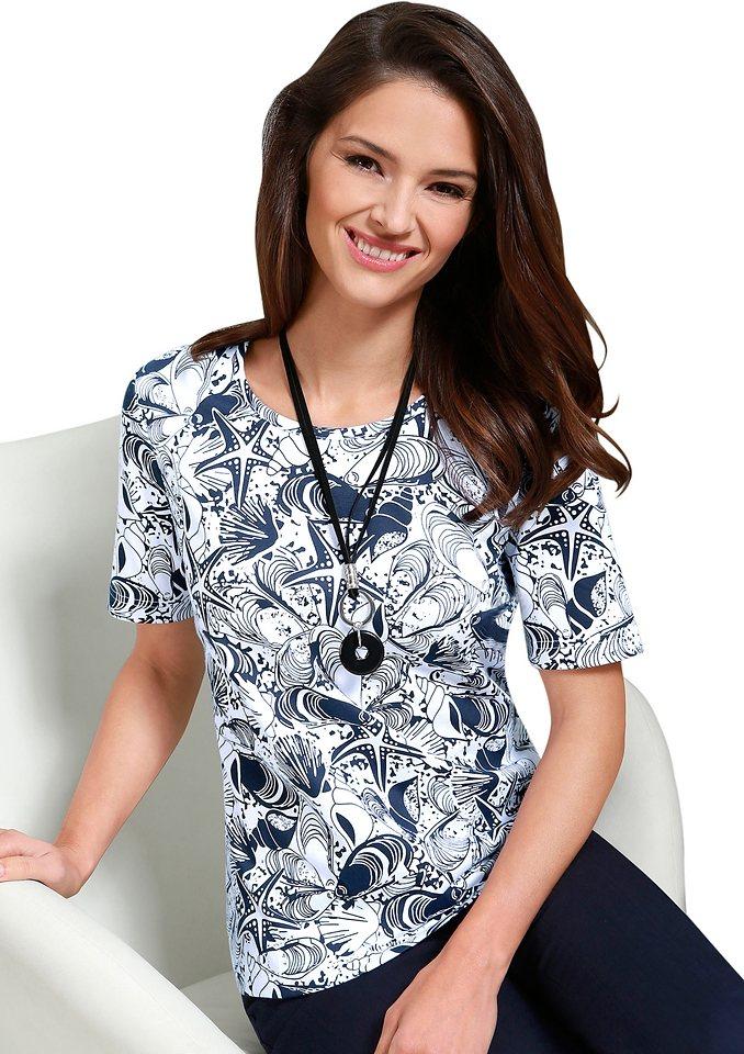 Classic Basics Shirt in hautsympathischer Single-Jersey in marine-gemustert
