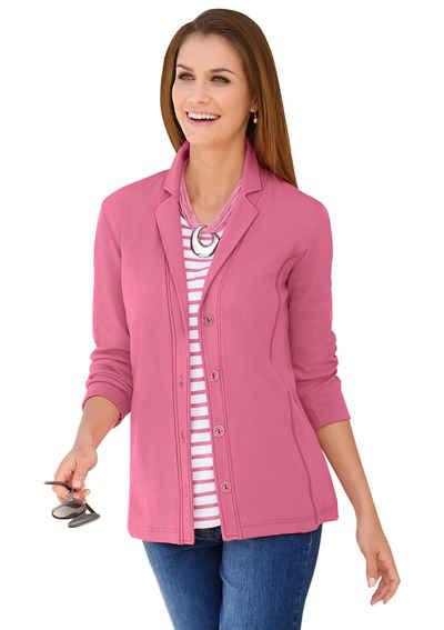Jersey blazer damen rosa