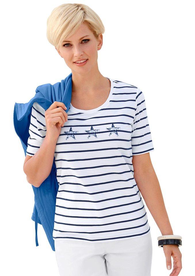Collection L. Shirt in weiß-marine-geringelt