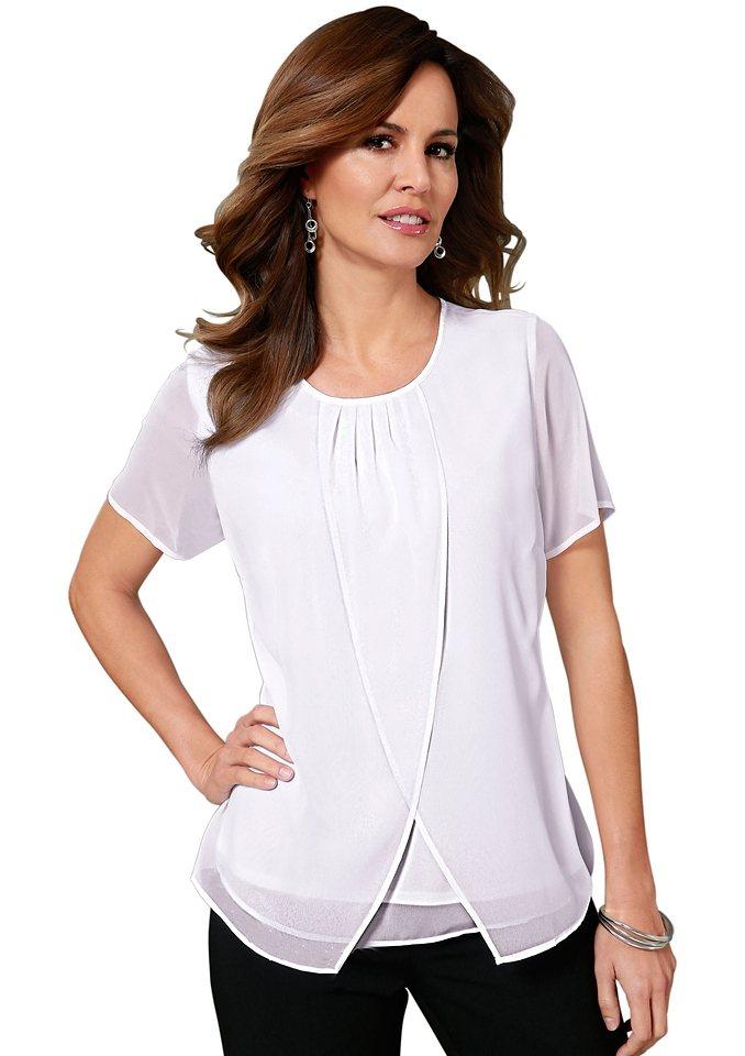 Lady Bluse rundum in luftiger Chiffon-Qualität in weiß
