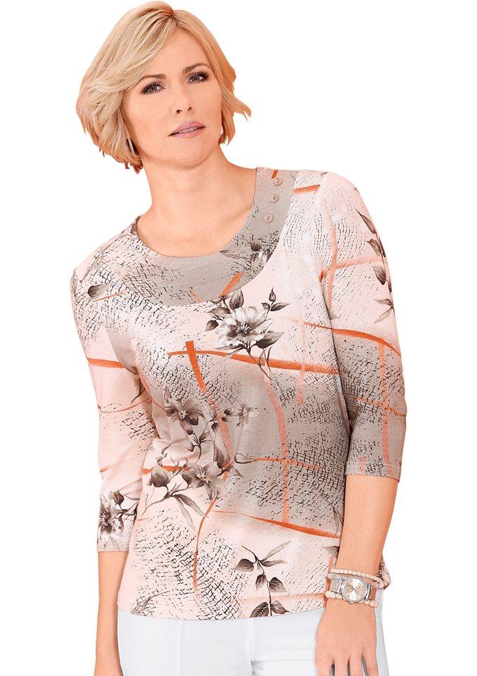 Classic Shirt in apricot-gemustert