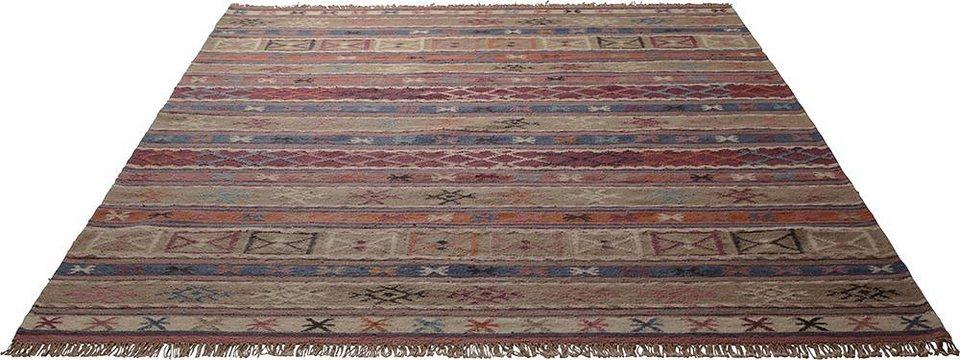 Teppich, ESPRIT, »Agra«, reine Schurwolle, handgewebt in multicolor