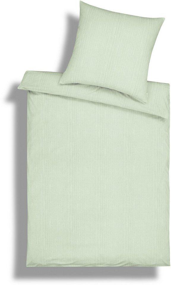bettw sche estella ed mit feinen streifen in mintgr n. Black Bedroom Furniture Sets. Home Design Ideas