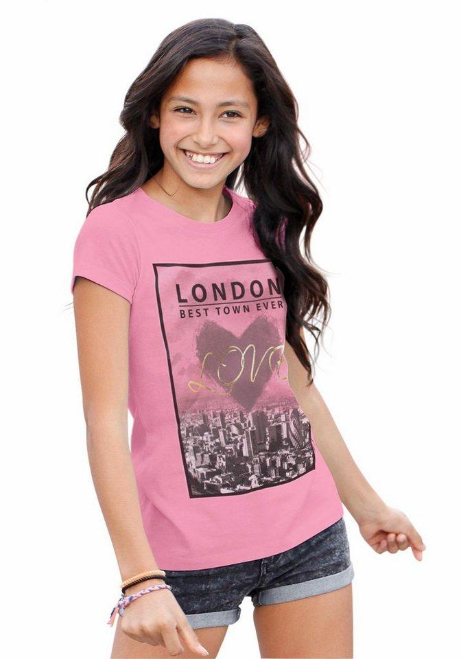 Arizona Longshirt mit Fotodruck, für Mädchen in hummer-meliert