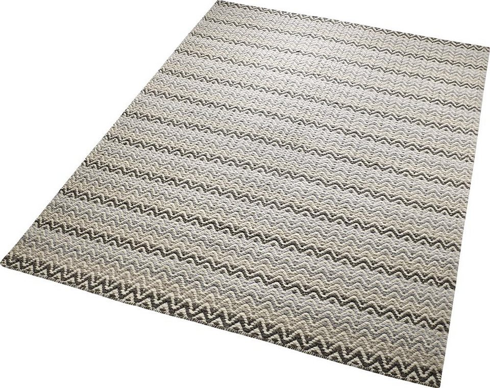 Teppich, ESPRIT, »Massoni«, reine Schurwolle, handgewebt in grau