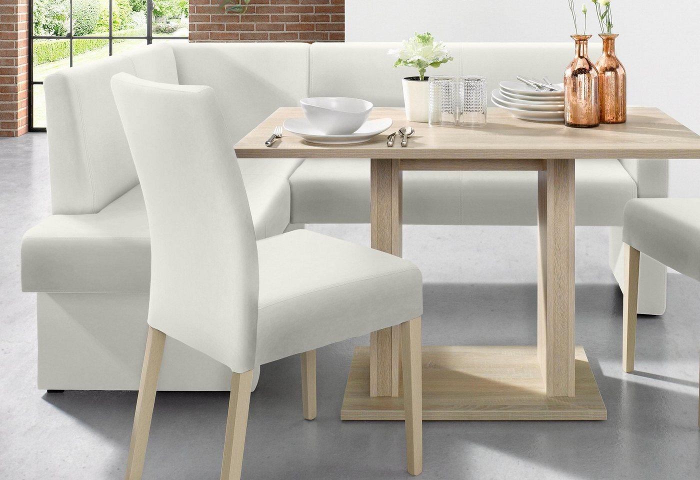eckbank leder weiss preisvergleiche erfahrungsberichte und kauf bei nextag. Black Bedroom Furniture Sets. Home Design Ideas