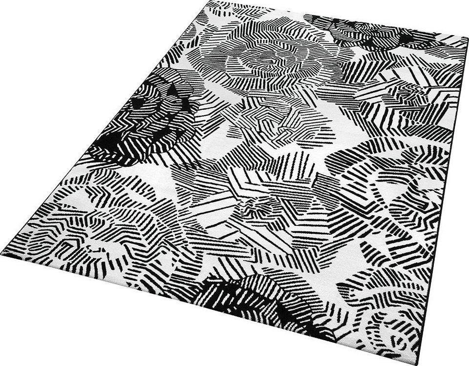 Teppich, ESPRIT, »Rosia«, gewebt in schwarz
