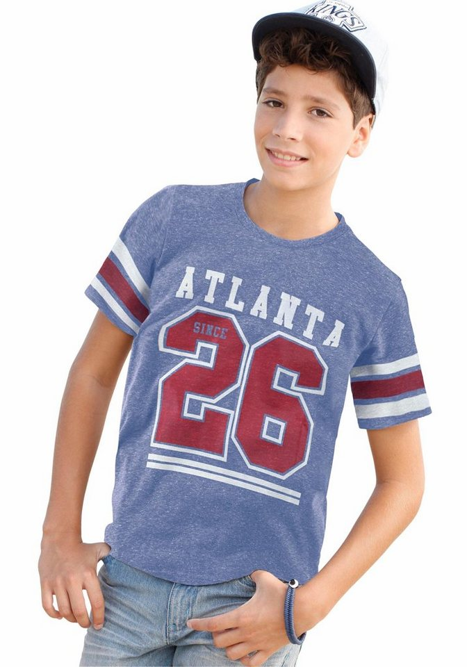 "Arizona T-Shirt ""ATLANTA 26"" in blau-meliert"