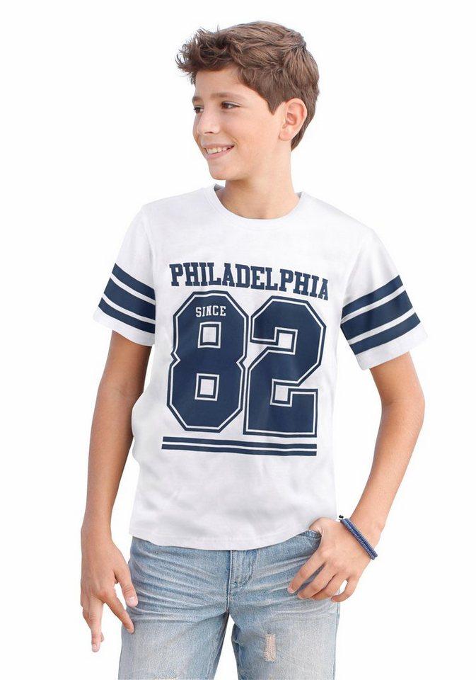 "Arizona T-Shirt ""PHILADELPHIA 82"" in weiß-meliert"