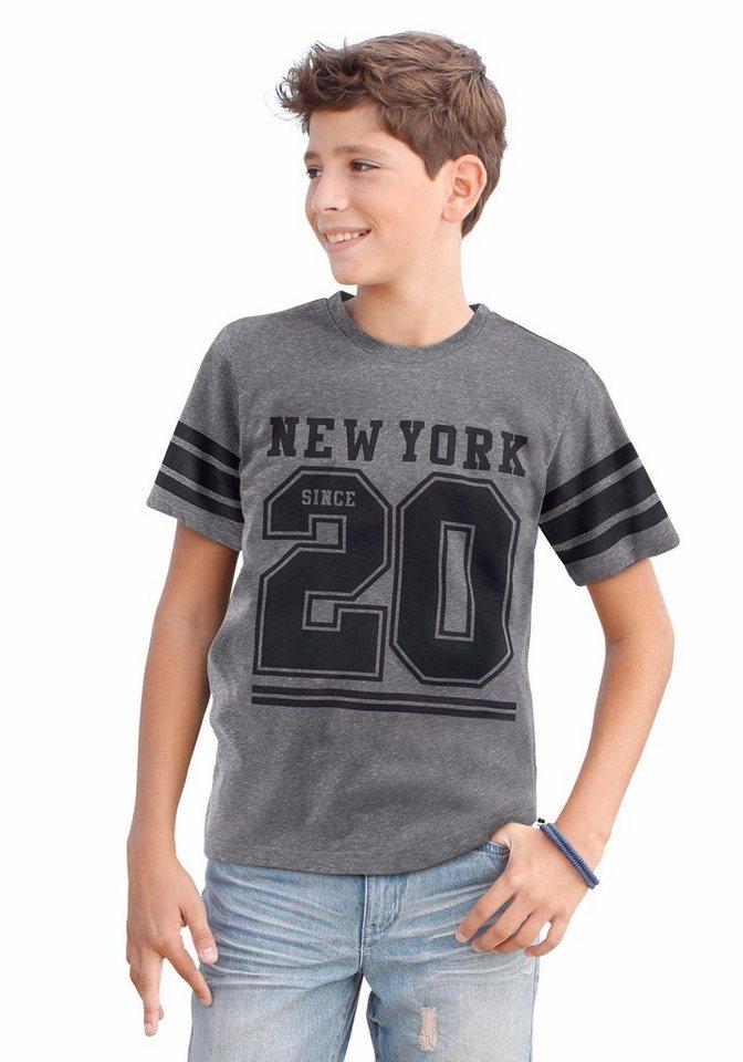 """Arizona T-Shirt """"NEW YORK 20"""" in grau-meliert"""